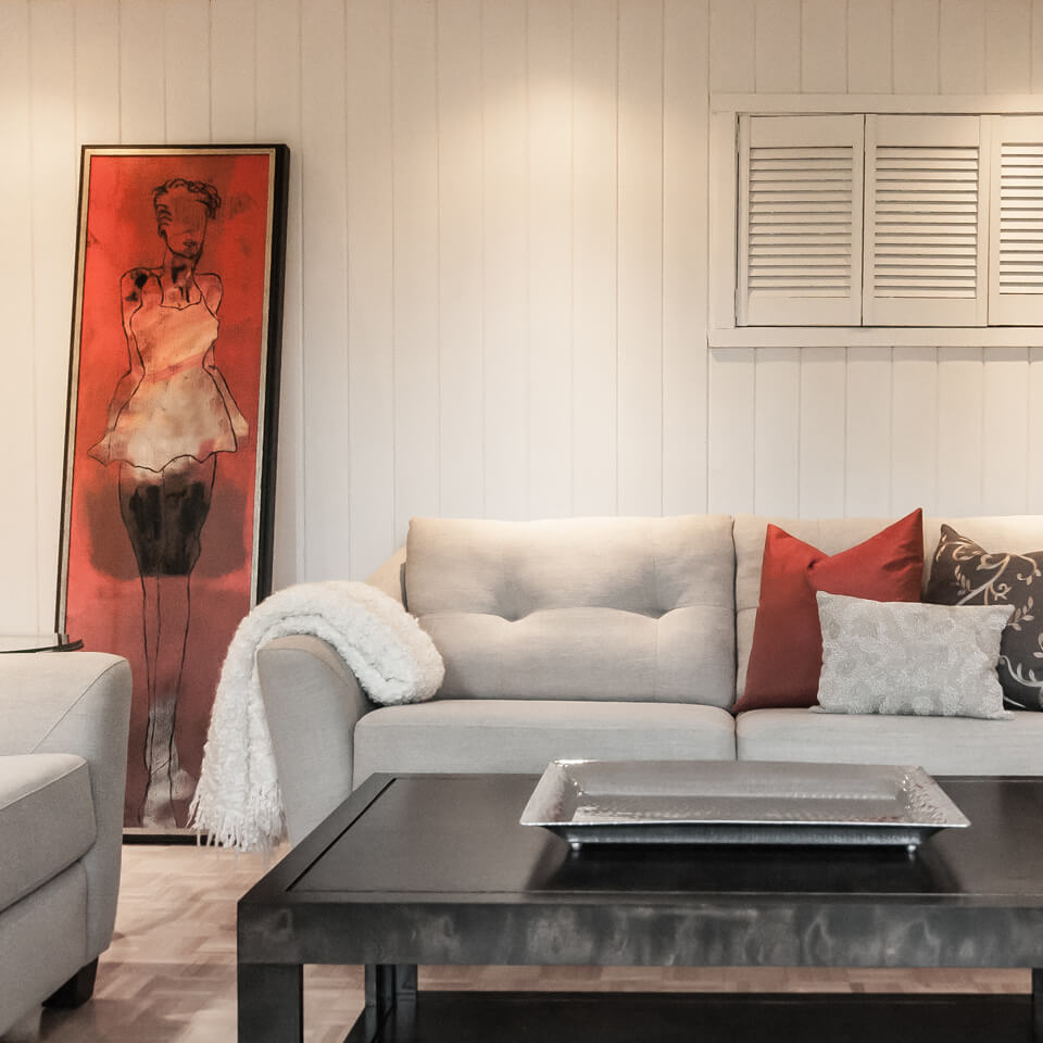Bourgault Residence-Living room